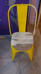 Iron Chair With Wooden Top