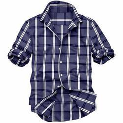 Mens Cotton Check Shirt, Size: S, M and L