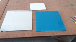 Back Panted Glass Laminated with Mirror Glass