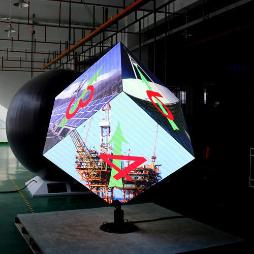 Video Full Colour Cube Led Display Everglow Brand Of