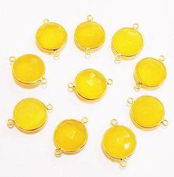 Yellow Chalcedony Bezel Connector