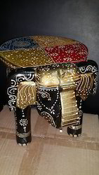 Wood Elephant Table Colour Full