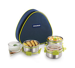 Magnus Comfy Lunch Box With 3 Stainless Steel Containers