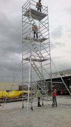 Crystal Aluminium Alloy Stairway Mobile Tower