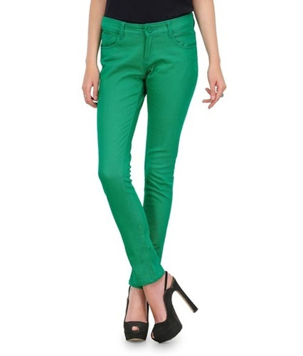 7bed819bfc6df Green Stretchable Women Chinos Pants