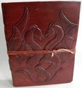 Embossed Double Dragon Leather Journal