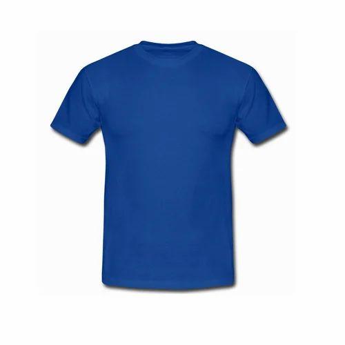 d239479a74e Mens Cotton Blue Round Neck T Shirts