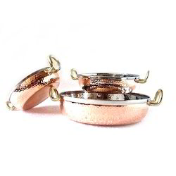 Copper Hammered Mini Brazier/Flat Bottom Karahi Portion Dish