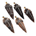Stylish Pave Set Arrowhead Pendant