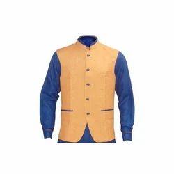 Men's Linen Designer Waistcoat, Size: S-XL