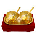 Bowl Set With Tray In Two Tone