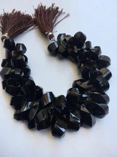 Smokey Quartz Twisted Briolette Beads,8 Inch Strand,9-11mm A