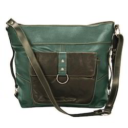 Green Ladies Leather Handbag, Yes