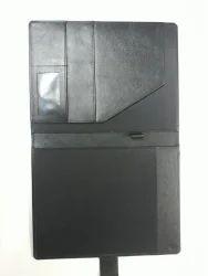 Black Genuine Leather File Folder, Paper Size: A4