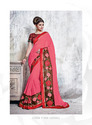 Hand Embroidery Designer Work Party-wear Sarees