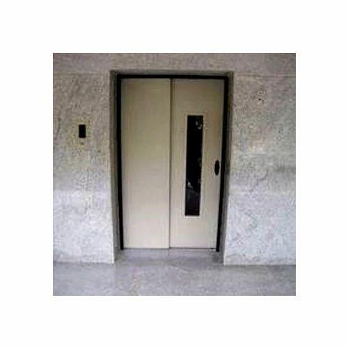 Telescopic Manual Landing Elevator Doors
