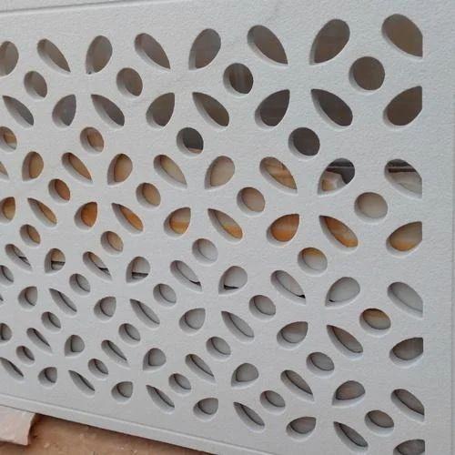 White Designer Cnc Cutting Jali Sizedimension 1500 Mm 3000 Mm