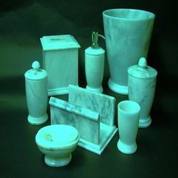 Marble Bath Accessories - Handicraft Bath Items Exporter from Jaipur
