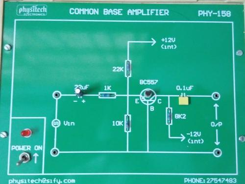 Common Base (CB) Amplifier Trainer - Physitech Electronics