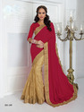 Georgette Embroidery Indian Saree with Blouse Piece
