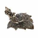 Ganpatti Leaf Diya Metal Sculpture