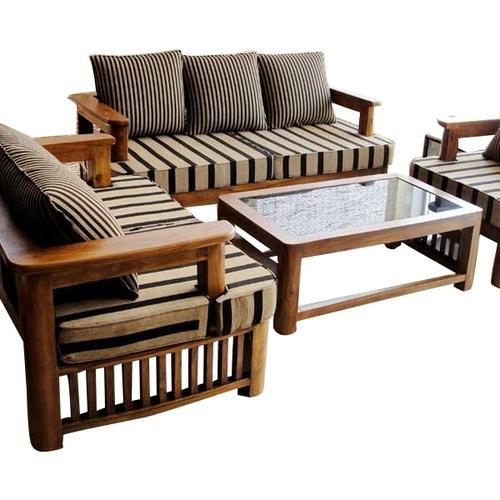 perfect wood sofa set design in bangladesh room