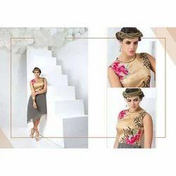 Printed Designer Western Dress