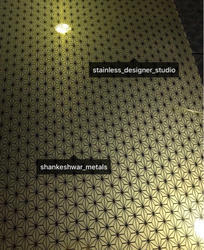 SS Golden Etching Stainless Steel Sheets