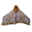 Boil Wool Raccoon Fur Embroidered Scarves