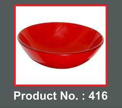 Aranaut Red Designer Glass Bowl, For Bathroom, Size: 16 X 16 Inch