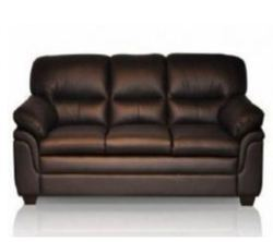 Godrej Interio Orleans 3 Seater Pure Leather Sofa