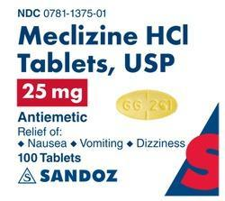 Meclizine HCL Tablets USP