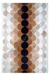 SGE Rectangular Leather Patchwork Carpet