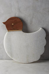 Marble And Wood Bird Shape Cutting Board