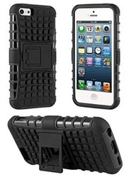 Plastic Black Kick Stand Mobile Phone Cover