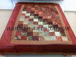Velvet Patch Work Bed Cover
