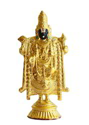 Shri Tirupati Balaji Statue - 24 Carat Gold Plated