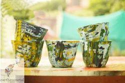 Marble Design Garden Pot, Size: 3 Inch