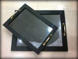 Black Dancing Tray Set Of Two