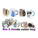 Rim Handle Colour Mug