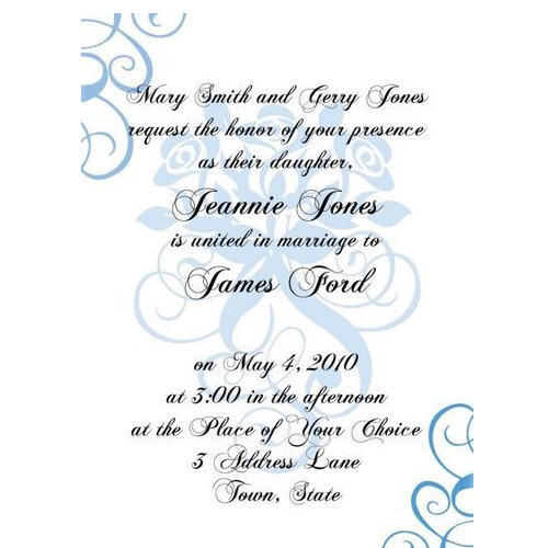 Formal Invitation Card At Rs  Piece  Anniversary Invitation Card