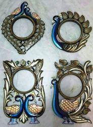 Multicolor Designer Wooden Mirror Frame