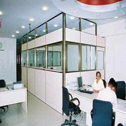 full height partition cabin