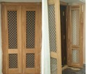 Solid Wood Wooden Double Door, For Home, Size: 79 X 40 Inch