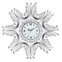 White Crystal Metal Wall Clock