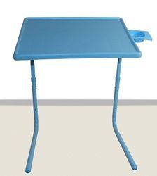 Blue Table Mate Iv Folding Portable Table  With Cup Holder