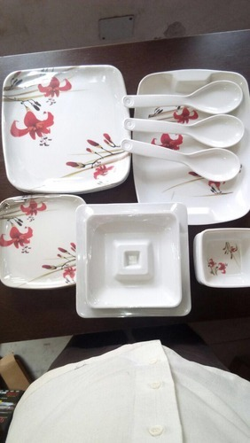Square Melamine Dinnerware Set - 33 Pcs. & Square Melamine Dinnerware Set - 33 Pcs. at Rs 700 /set | Melamine ...