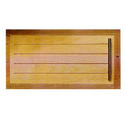 One Piece Slotted Wooden Cabinet