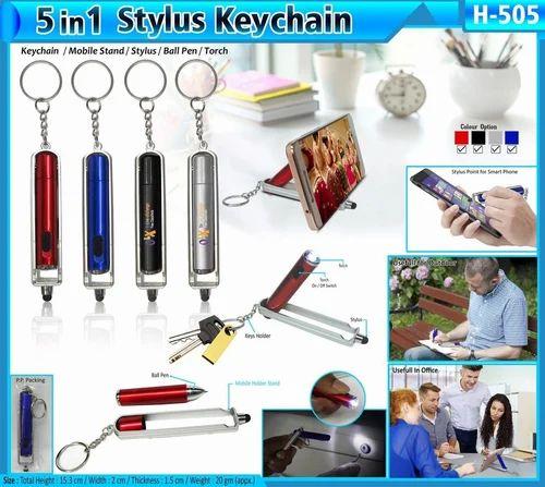 5 In 1 Stylus Keychain