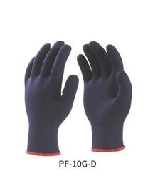 Polyester Knitted Gloves Blue Colour
